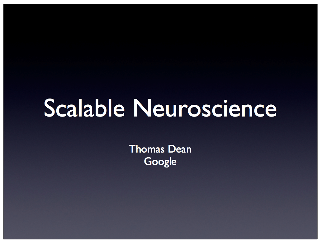 Scalable Neuroscience and the in Activity Mapping Project on