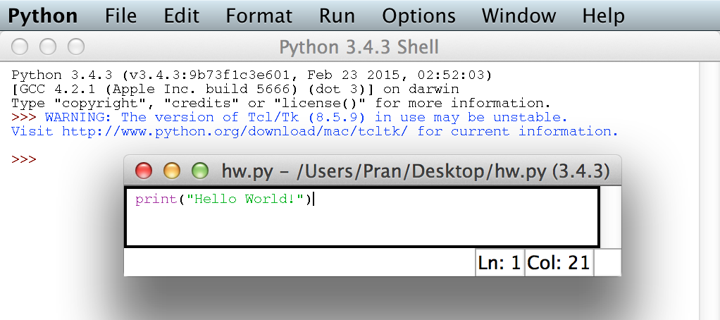 how to clear the python idle window